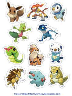 Imágenes de todos los personajes de Pokemon Go para imprimir. http://www.invitacionesde.com/invitaciones-de-cumpleanos/personajes-de-pokemon-go