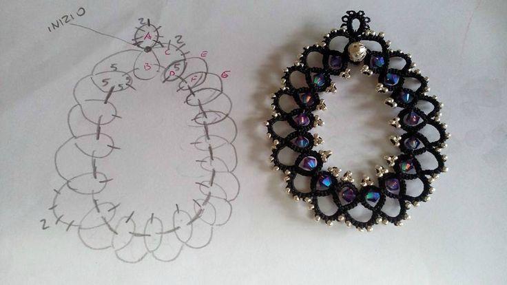 Boucles d'oreilles en frivolité ( 2 - Les créations de Salvina