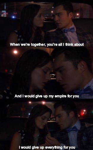 """Gone Maybe Gone"", episode 1, season 6. Blair and Chuck"