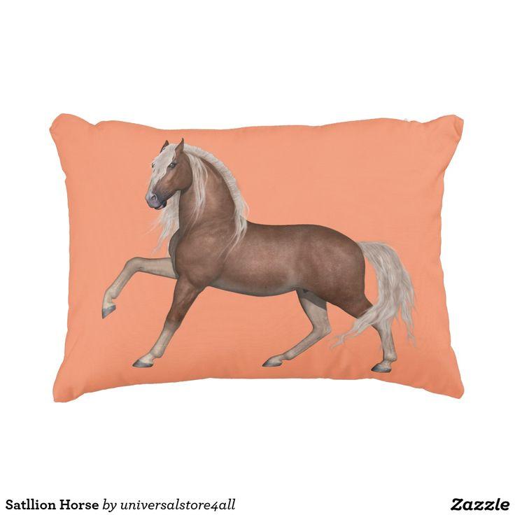 Satllion Horse Decorative Pillow