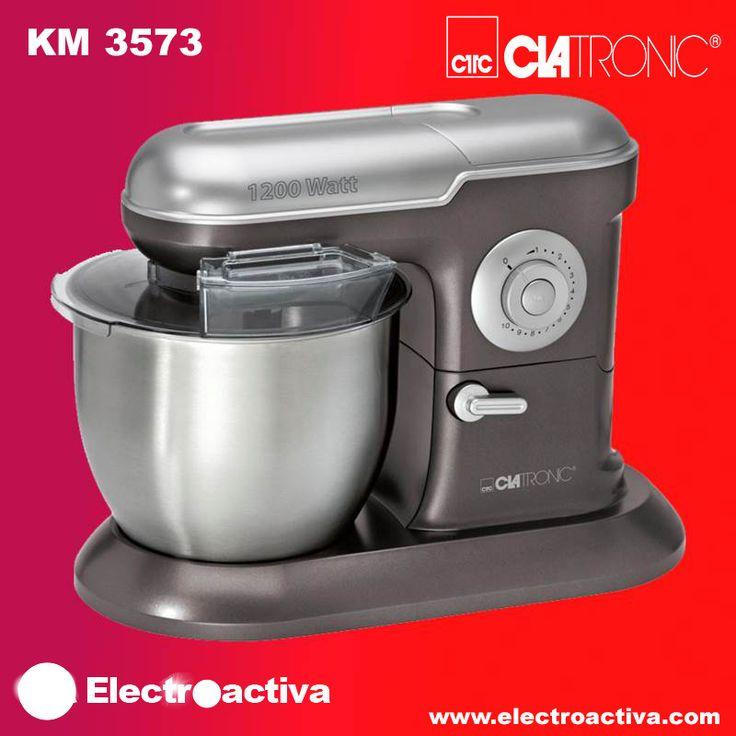 ¡¡Saca el reposter@ que llevas dentro!! Batidora Amasadora CLATRONIC KM 3573 http://www.electroactiva.com/clatronic-batidora-amasadora-km-3573.html #Elmejorprecio #Batidora #Amasadora #Cocina #Reposteria #Electrodomestico