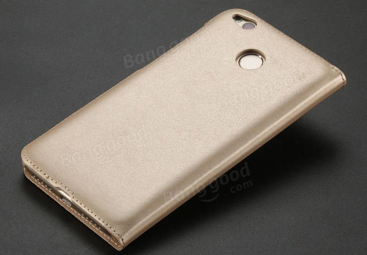 Dual Window Flip Stand PU&PC Leather Cover Case For Xiaomi Redmi 4X/ Redmi 4X Global Edition