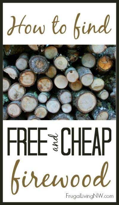 Tips to finding free or cheap firewood, also, read the comments--great info about which sort of wood to burn in your fireplace and what woods burn quickly/slowly.
