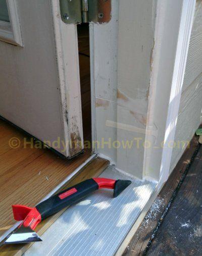 Rotted Exterior Door Frame Splice Repair Caulk Seams Maison