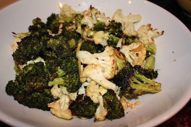 Garlic-roasted Broccoli & Cauliflower