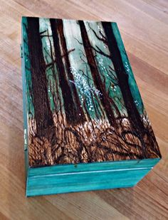 Wood Burned Magic the Gathering Deck Box by DragonWhelpDesigns
