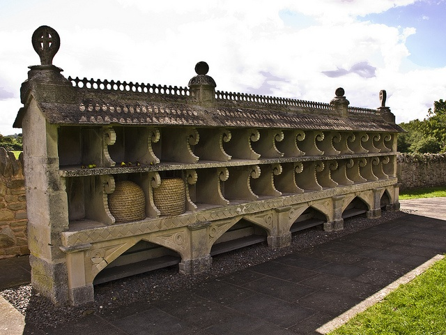 An Ornate Bee Shelter In Hartpury Built By A Stone Mason In Gloucester ~ 1850's.