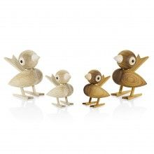 Gunnar Fl�rning Collection Sparrow 1958 Oak Medium  --- Sparrow in Oak size Medium designed by Gunnar Fl�rning in 1958Height 12 cm
