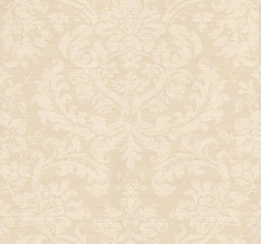 Elegant Cream Hallway With Damask Wallpaper: Tours Calico (ZCDW03012)