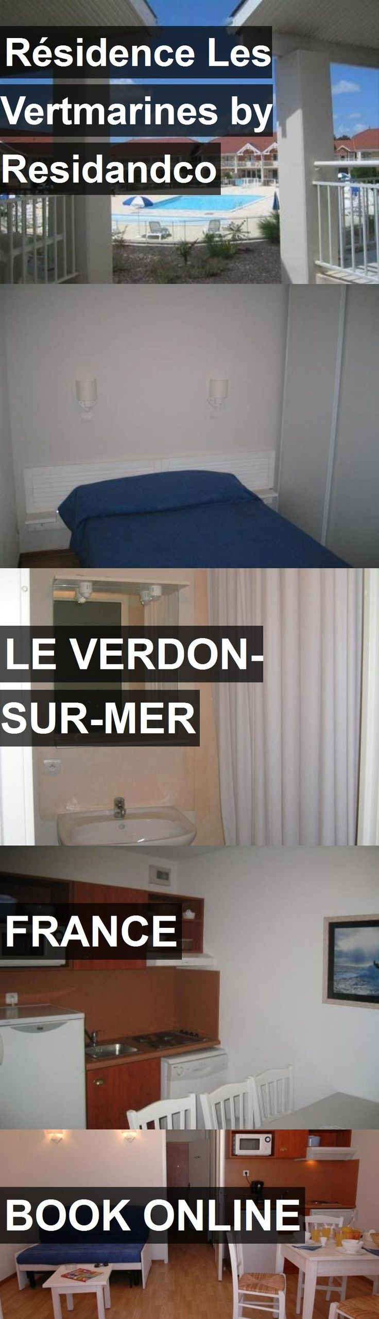 Hotel Résidence Les Vertmarines by Residandco in Le Verdon-Sur-Mer, France. For more information, photos, reviews and best prices please follow the link. #France #LeVerdon-Sur-Mer #RésidenceLesVertmarinesbyResidandco #hotel #travel #vacation