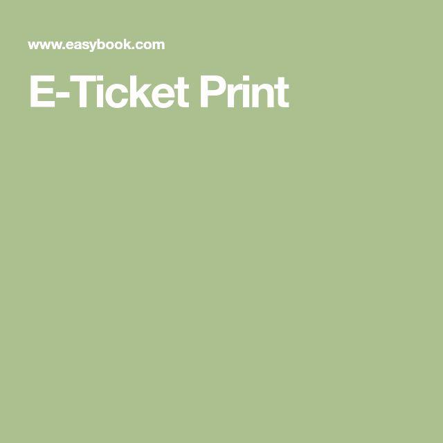 E-Ticket Print
