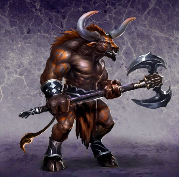 Statistics - Minotaur / Minotaur Guard - The Dungeon units - Might & Magic: Heroes VI - Shades of Darkness - Game Guide and Walkthrough