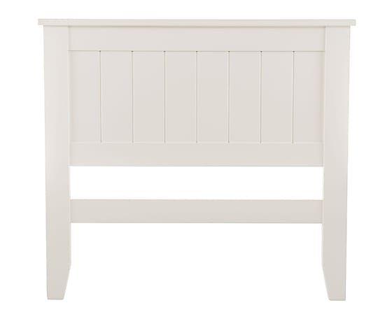Cabecero en madera, blanco - cama de 90 cm