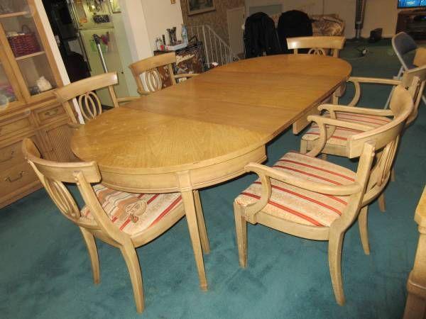 Drexel Dining Room Set Mid Century Modern Solid Wood Wood