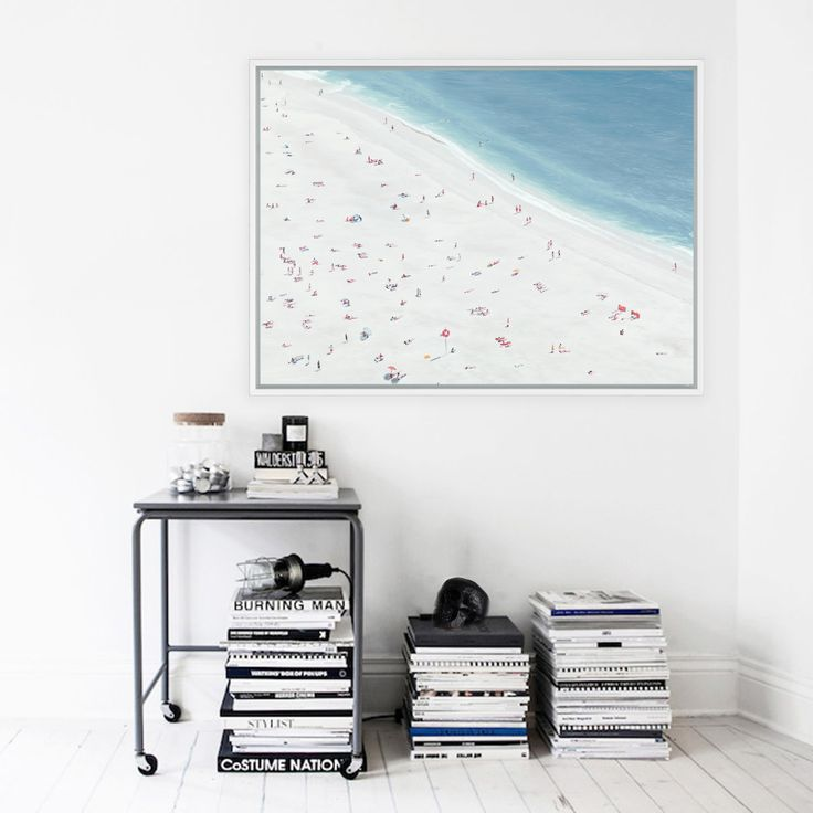 Featuring a vibrant aerial scene of beachgoers in the Summertime, this canvas print was originally hand painted by our in-house artist team, and now available as a reproduction stretched and ready-to-hang canvas art piece. Size & frame colour options available. We ship worldwide. #ThePrintEmporium #sunbathers #beach #beachvibes #coastalprint #wallart #artprint www.theprintemporium.com.au