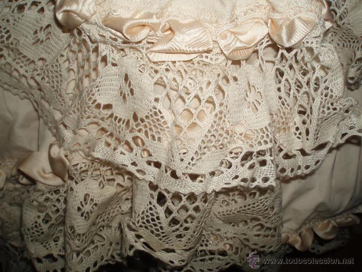 Vintage: bonito vestido de flamenca o faralaes color salmon claro - Foto 4 - 53022932