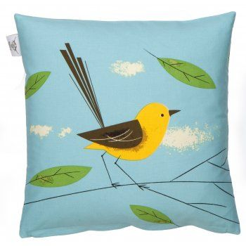 Magpie Wagtail Birdy Cushion