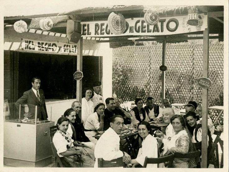 NEL REGNO DEL GELATO-BAR-BELLA  FOTO D EPOCA (OLD PHOTO)-PIEROTTI-ROMA -ANNI 30