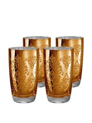 Artland Set of 4 Brocade 18-Oz. Highball Glasses (Gold)