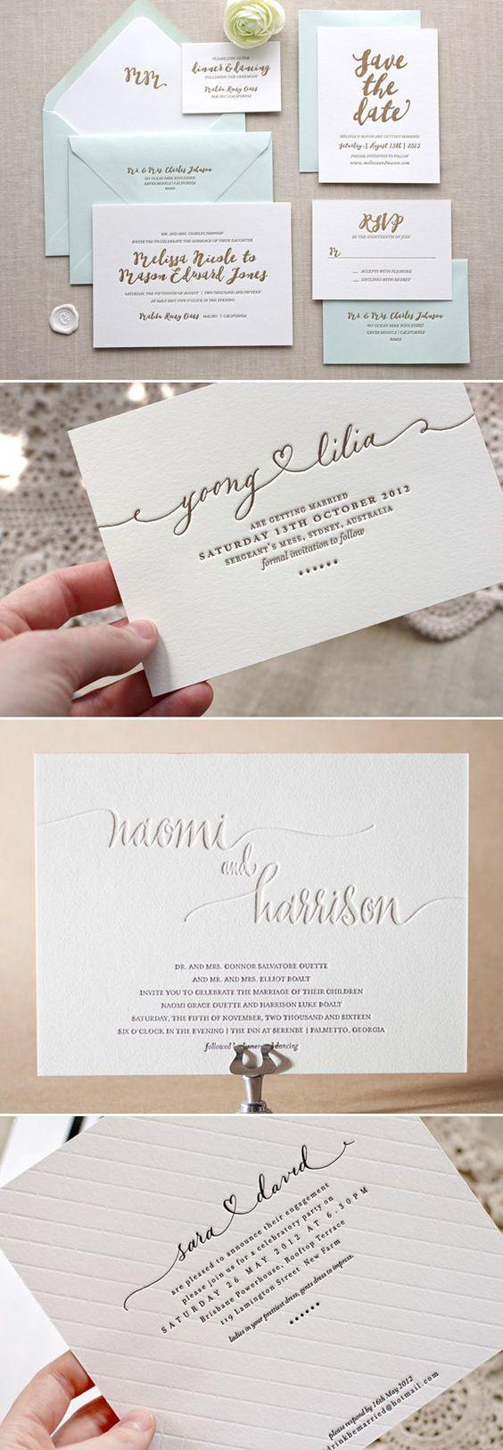 Letterpress wedding invitations 50 best Wedding invitations