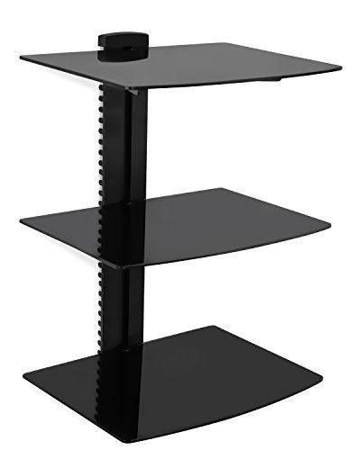 Mount-It! floating wall mounted triple shelves allow you to get rid of your floorstanding TV furniture and complement the look of your wall mounted flat screen television. The triple shelf design allows you to place DVD players, cable boxes and other AV components on the wall. The shelving... more details available at https://furniture.bestselleroutlets.com/game-recreation-room-furniture/tv-media-furniture/audio-video-shelving/product-review-for-mount-it-wall-mounted-av-compo