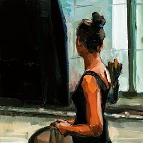 I like the feeling of the paint strokes in this piece. 21 DEC 2012 Ich schaue in die Welt Edward B. Gordon http://edwardbgordon.blogspot.de/