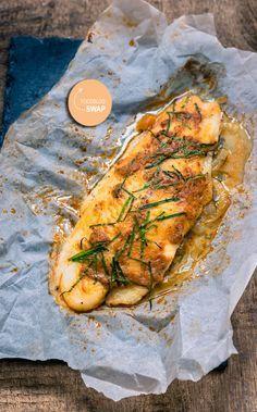 Vispakketjes met rode pesto uit de oven | foodblogswap - The answer is food
