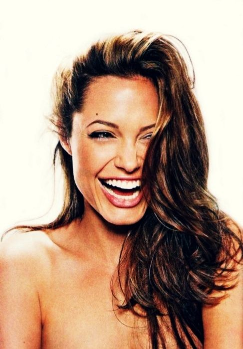Inspiration for beautiful white smile and strong teeth- Angelina Jolie