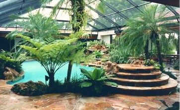 Tropical pool tropical and pools on pinterest for Tropical pool gardens