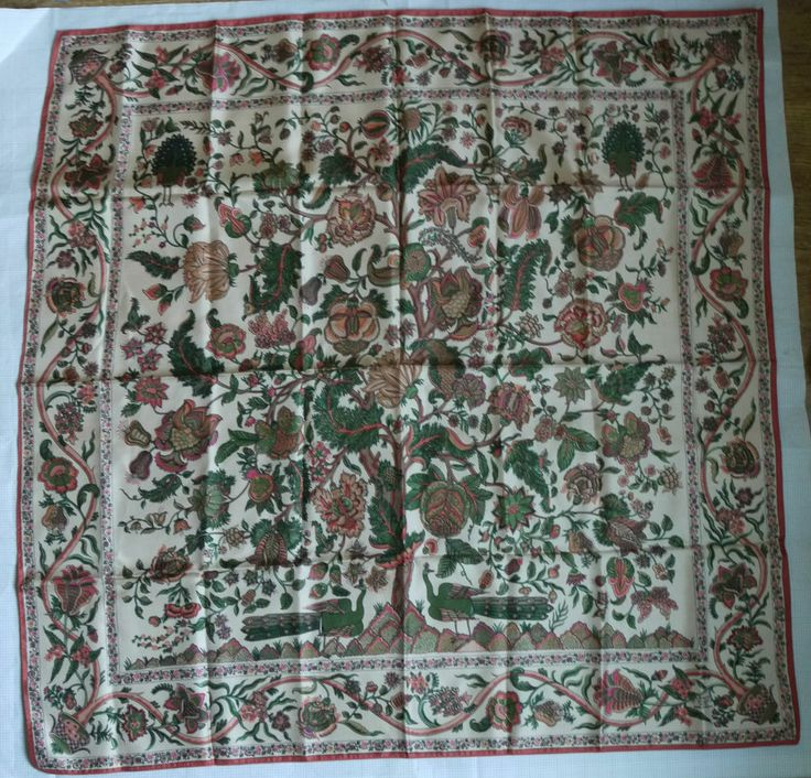 Liberty of London Copper Brown Tree of Life Print Silk Scarf