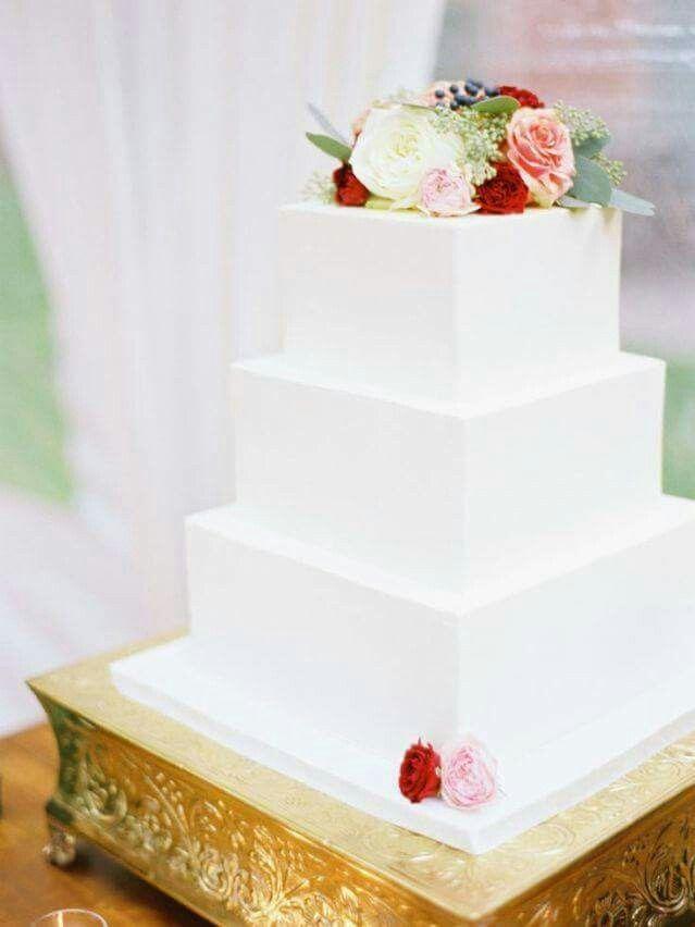 Vierkante bruidstaarten