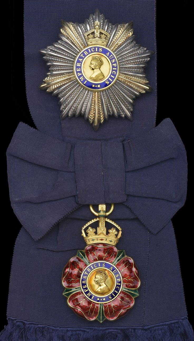 Order of the Indian Empire, G.C.I.E. insignia, sash badge and breast star, by Garrard & Co. Ltd., in case of issue.