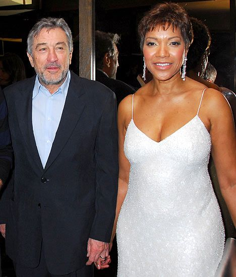 Grace Hightower and husband Actor Robert DeNiro. The two were married in 1997.  Hightower filed for divorce in 1999 but never followed through with it.