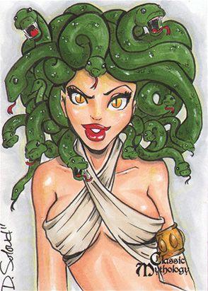 Medusa Sketch Card - Danielle Soloud-Gransaull by *Pernastudios on deviantART