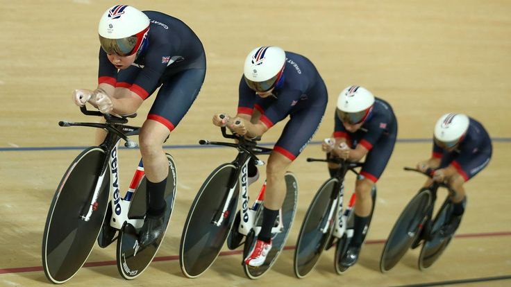 Great Britain's women's team pursuit of Trott, Rowsell Shand, Archibald and Barker fired a warning to their rivals with a blistering world record in their qualifying round at the Rio Olympic Velodrome