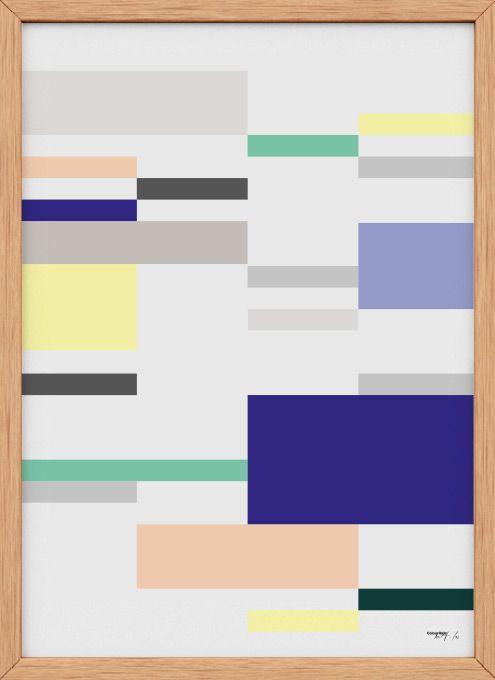 Colour Rain / Tips til indretning, Køb grafiske designplakater til væggen, Gode ideer til boligen, Grafiske mønstre, Typografiske plakater.