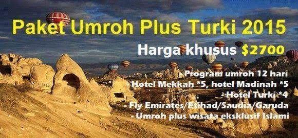 Berikut kami sampaikan informasi mengenai Umroh Plus Turki   Durasi Program :  12 Hari Biaya :  $2700 (quad) Jadwal :  10 April 2015  Hotel Mekkah Bintang 5 : Swissotel - Zam-zam - Royal Iman - Safwa Orchid - Movenpick Hotel Madinah Bintang 5 : Royal Dyar - Mercure - Radisson Blu Hotel Turki : Setaraf bintang 4 Pesawat : Etihad / Emirates / Garuda / Saudia Quota : 45  #Travel #Umroh #Umrah #Wisata #Muslim
