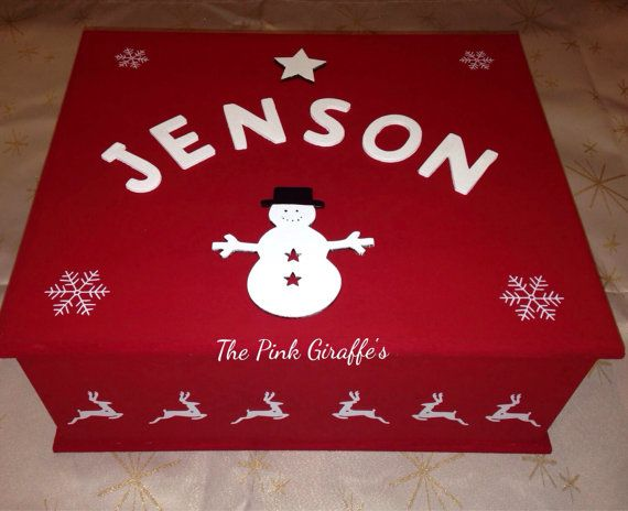 Christmas Eve Box personalised with chosen by Thepinkgiraffes