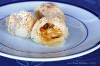 Yummy looking appetizer!! Chicken-Bacon Stuffed Pizza Rolls