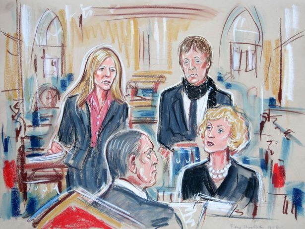 Heather Mills McCartney and Sir Paul McCartney, at the High Court London