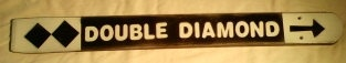 Double Black Diamond Slope Ski Trail Sign Made in by frameitinskis, $15.00