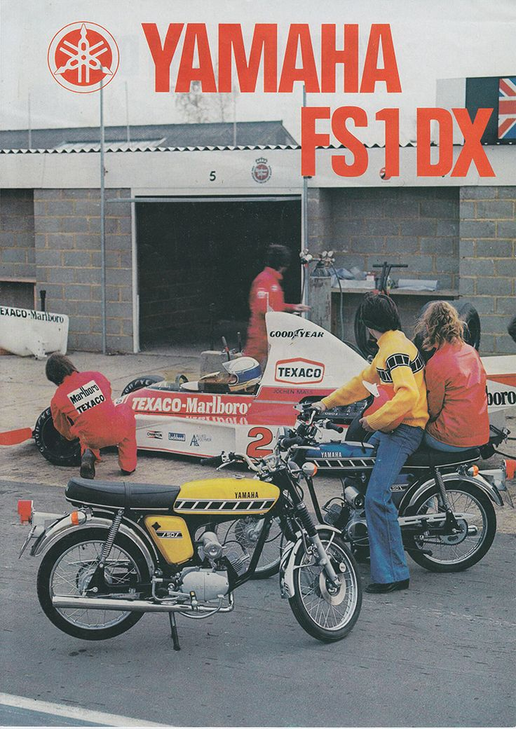 1976 77 YAMAHA FS1 E DX 596 COMPETITION YELLOW   BROCHURE