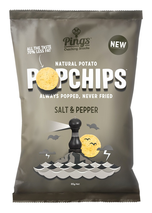 Popchips by Marx Design - playful chips packaging design