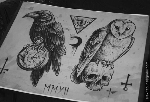 I have some room on my back the owl on the right and raven on the left and boom my back would be covered and done.