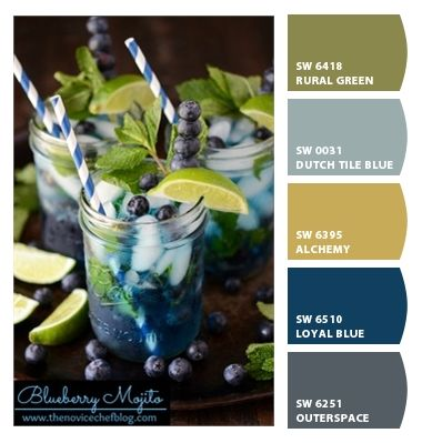 Blue, Gold & Green Palette