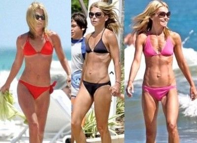 kelly ripa diet workout bikini body