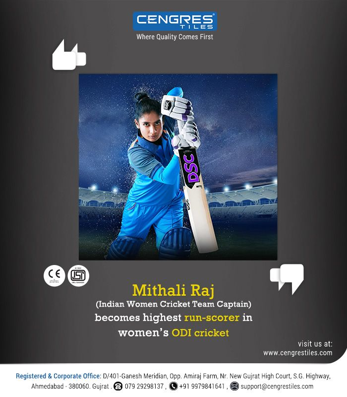"""Huge Congratulations to Mithali Raj on Becoming the leading run-getter in Women's ODI Cricket""  #MithaliRaj #WorldRecord #WomenCricketTeam #India #ODI #Runs #Congratulations"