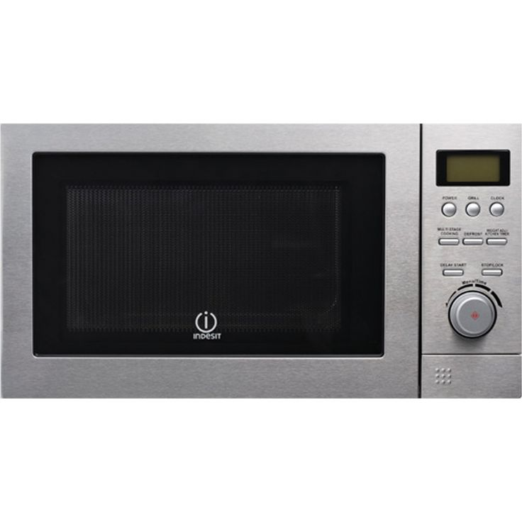 28cm  Microwave with Grill - 6 Power Levels Stainless Steel by Indesit D90D25ESP-A5   Features:  Auto Cook Menu 6 Power Levels Multi-Stage Cooking Auto Defrost Express Cooking Child Lock Delay Start Grill