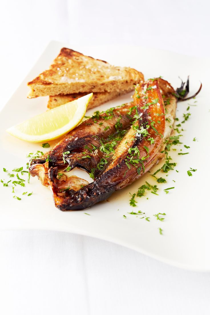 Grilled kippers, brown butter and parsley by Will Holland