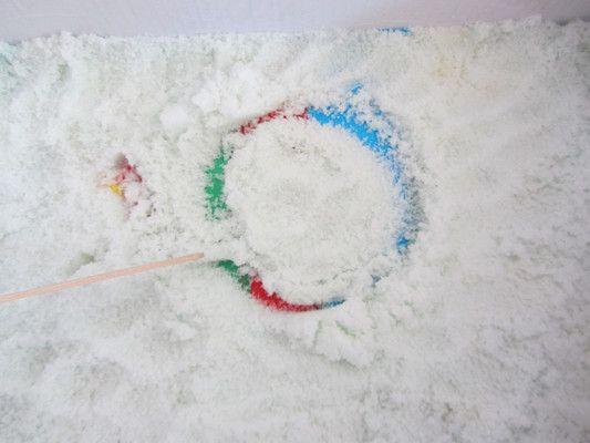 Malowanie koła na soli